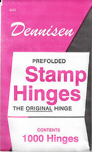 1 UNOPENED PACK OF DENNISEN STAMP HINGES 1000 FOLDED