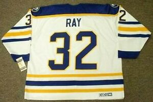 8750a8453 ROB RAY Buffalo Sabres 1992 CCM Vintage Throwback Home NHL Hockey ...