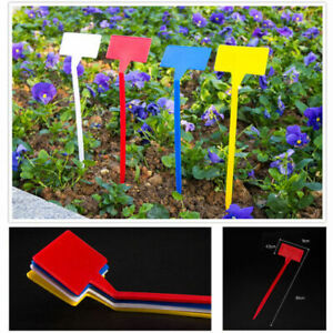 Plastic Plant Labels Garden Markers T-Type Gardening Name Tags Herbs Pots UK