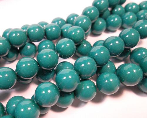 100 coral piel italiana cuentas de vidrio azul 8mm aproximadamente a Grade joyas g622#4