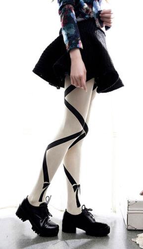 Ladies Japanese Bow Pantyhose Tights Lolita Cosplay Mori Harajuku Gift 1 pr
