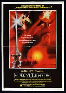 Werbeplakat Excalibur Boorman Fantasy König Artus König Arthur Geneve S04