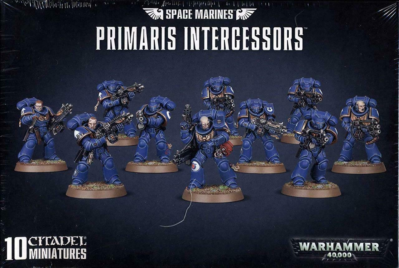 Games Workshop Warhammer 40K  Space Marines Primaris Intercessors GAW 48-75