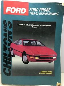 ford probe 1989 92 us canada chilton s repair manual chilton rh ebay com 1992 Ford Probe 1992 Ford Probe
