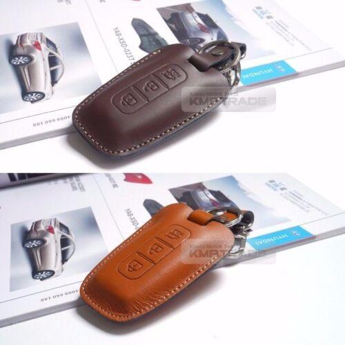 Promotion Natural leather Key Case Holder for HYUNDAI 14-16 Grand Santa Fe XL