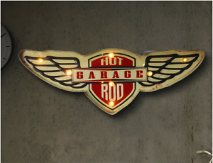 Hot Rod Garage LED Neon Signs Wall Hanging Sign