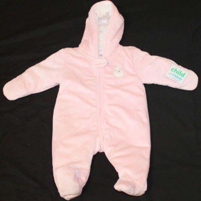 09ef54af6d9a Carter's Child of Mine Baby Girl Hooded Pram Pink Size 0-3 months Sheep #