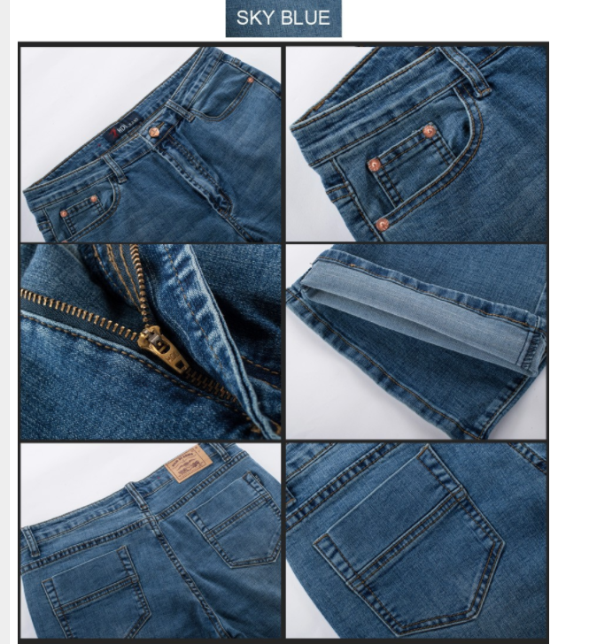 Men/'s Cowboy Boot Cut Leg Fit Jeans Slim Thigh Stretch Denim Mid Waist Size27-40