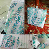Tahari Shower Curtain Lupine floral aqua teal-blue gray soft green white PERFECT
