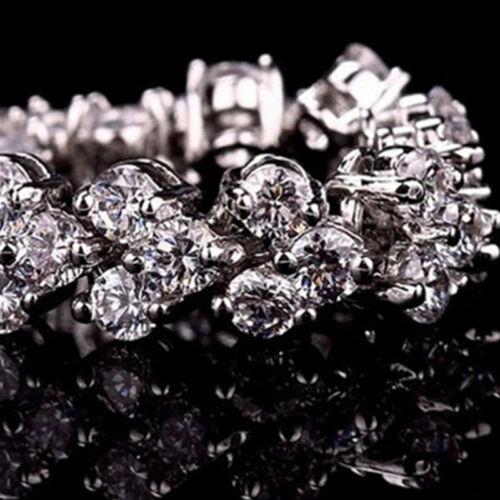 Women Zircon Bracelet Simple Crystal Bracelet Party Jewelry Accessories 6A