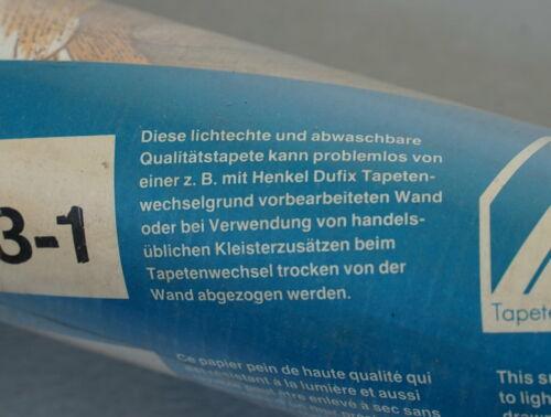 70er Ans hitho Fleurs Papier Peint Graffiti Nº 7563-1 Lavable West Germany RAR