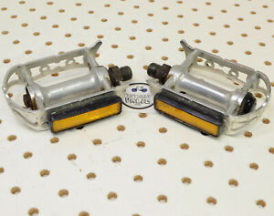 "MKS Sylvan Track Road Black Track Classic Bicycle Pedals 9//16/"" Made Japan"