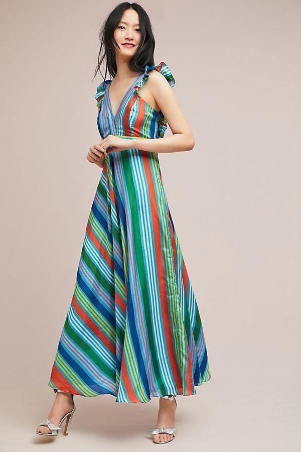 100% Cotton Long Boho Maxi Dress Party Evening Size 14 16 18 20 22 24 April Eleganter Auftritt Kleider