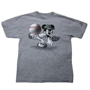 Vtg Disney Wide World Of Sports Mickey Baseball Shirt Medium Short Sleeve Tee
