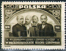 Poland 1947 Fi 415a The 50th anniversary of the Polish Peasant Movement / MNH