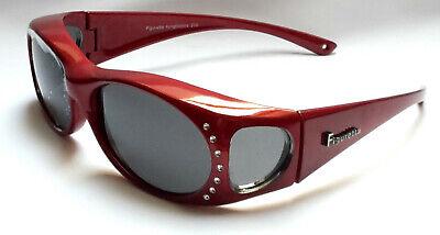 Figuretta Sonnen Überbrille Uv400 Polarisiert Rot Strass Tv Werbung / 2