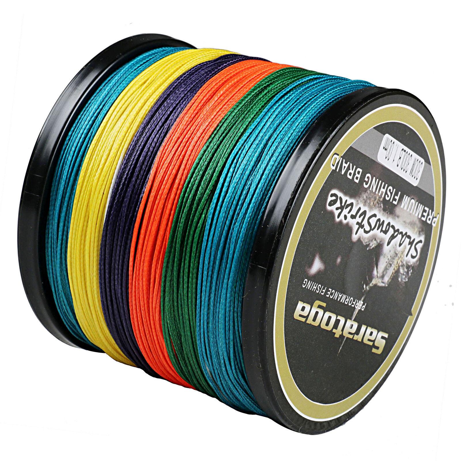 100M-1500M 8 Strand Multicolor 100% PE Dyneema Trecciati Pesca lenza