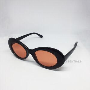 e6942e5dcf Image is loading Kurt-Cobain-clout-goggles-oval-sunglasses-Black-Orange