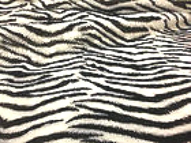 Zebra Pattern Faux  Fur Fabric  Material