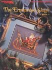 Ended Leisure Arts 2035 Enchanted Sleigh 136x96 1991 Cross Stitch 4p Leaflet