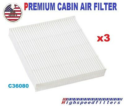 x 3 C36080 CABIN AIR FILTER for HONDA Fit Insight CR-Z 2009-16 CF11182  800143P