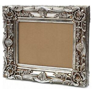 barock bilderrahmen silber rahmen 60 x 50 cm 30x40cm gem lde prunkrahmen ebay. Black Bedroom Furniture Sets. Home Design Ideas