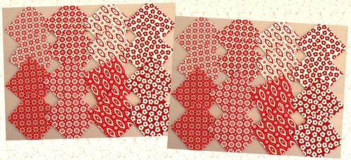 10x10 cm Patchwork Stoffe ROT-WEIß von STOF Stoffpakete Precuts Scraps 5x5