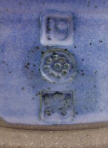 Unidentified-Studio-Pottery-Stoneware-Bowl-Blue-Pinched-Three-Chop-Marks