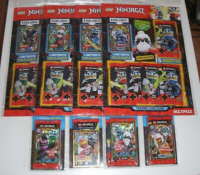 alle 4 Multipack NEU alle 4 Blister LEGO Ninjago Serie 5 Trading Card Game
