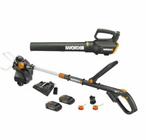 WORX WG930.2 20V GT Revolution Trimmer & Turbine Blower+ Dual Port charger