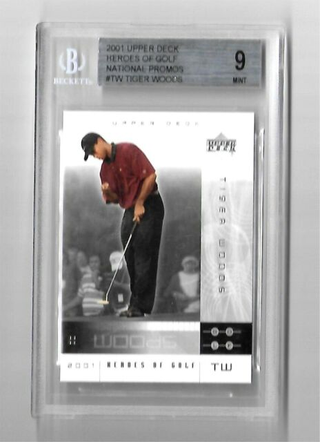 2001 Upper Deck Golf 1 Tiger Woods Rookie Card