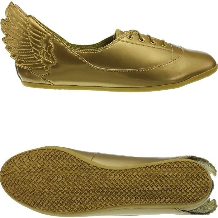 Adidas JS Wings Easy Five gold Jeremy Scott Women's Flats shoes rare  Collectors