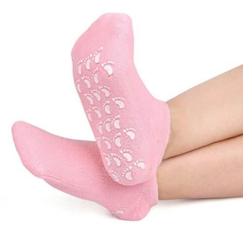 Gel-Lined Sock SPA Pedicure Moisturize Foot Heels Heal Repair Cracked Skin