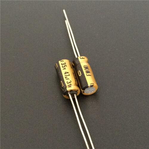 100pcs 47uF 35V 5x11mm Nichicon FW 35V47uF High Grade HiFi Audio Capacitor