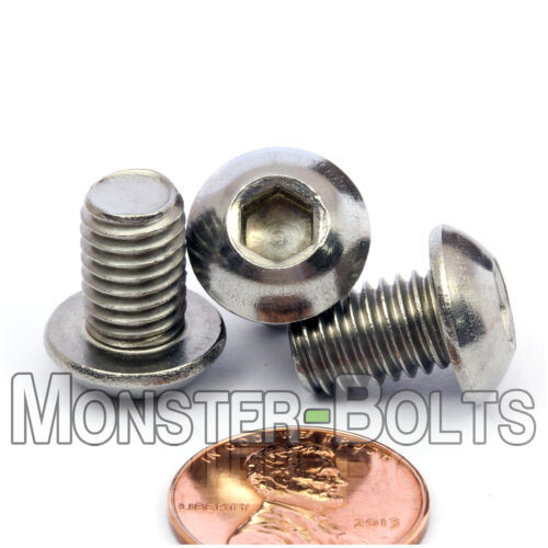 Qty 10 Stainless Steel Button Head Socket Cap Screws ISO 7380 M8-1.25 x 12mm