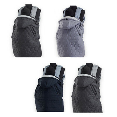 baby carrier winter whether cover warmer-modern navy POGNAE