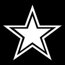 """(2) Dallas Cowboys 5"""" NFL Football Team Logo Car Window Vinyl Decal Sticker"""