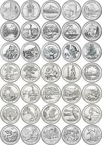 USA : quarters PARCS NATIONAUX 2010 - 2021 - pièces neuves de rouleau, UNC