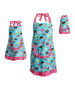 Dollie Me Girl Mommy And Doll Matching Doughnut Apron Clothes Set