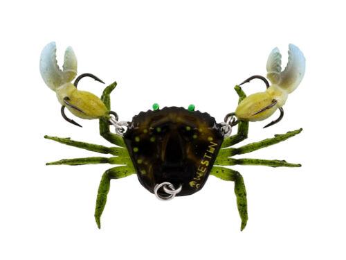 Bleifrei Gummiköder mit Owner Haken FARBEN 2cm Westin Coco the Crab 6g