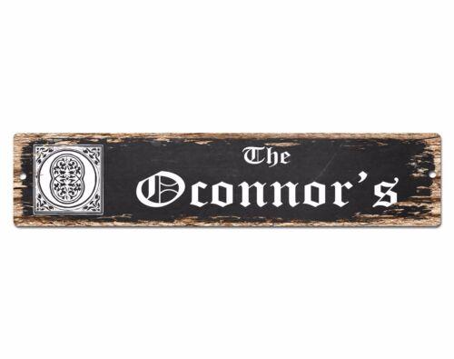 SPFN0385 The OCONNOR/'S Family Name Street Chic Sign Home Decor Gift Ideas