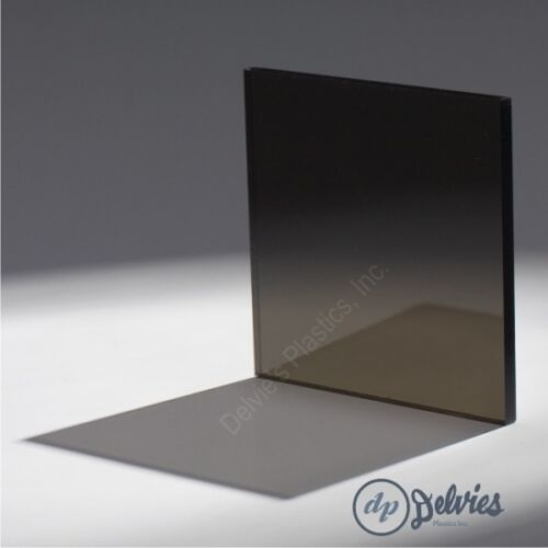 "5 Sheets 1//4/"" 2074 Transparent Dark Gray Cell Cast Acrylic Sheet  12/"" x 12/"""