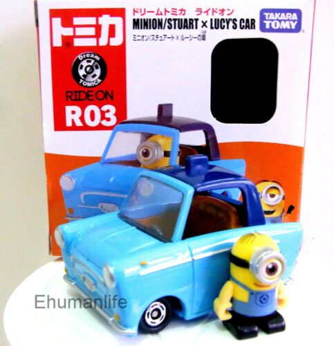 R03 Minion Stuart Figure 1 & Lucy's Car 1.5 Takara Tomy Tomica Dream Diecast