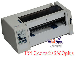 Dot Printer Nailprinter IBM Lexmark 2380 Band New For Dos Win Windows NT 95