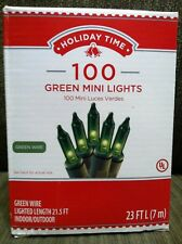 Holiday Time 100 Green Mini Lights-Christmas Indoor/Outdoor