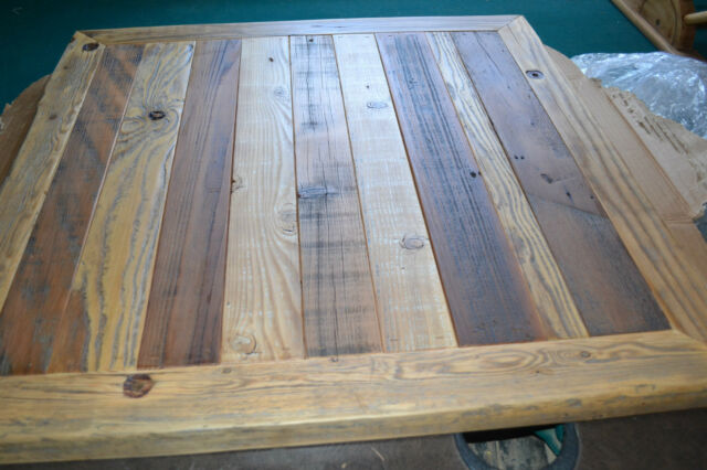 Reclaimed Barn Wood Table Top 30x30 Urban Rustic Restaurant Modern Authentic