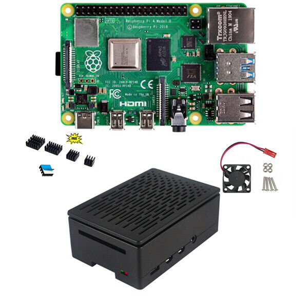 for Raspberry Pi 3 B+//3//2B 2019 New Premium Case Aluminum Enclosure Black