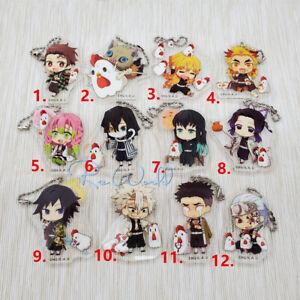 Demon-Slayer-Kimetsu-no-Yaiba-acrylic-Keychain-Key-Ring-Race-Straps-cosplay
