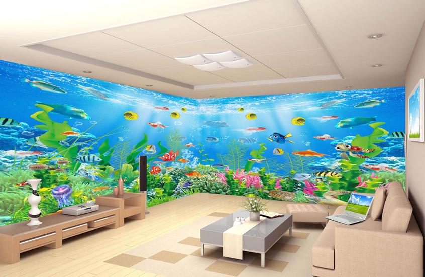 3D Bunte Fisch Koralle 753 Tapete Wandgemälde Tapete Tapeten Bild Familie DE   Primäre Qualität    Charakteristisch    Konzentrieren Sie sich auf das Babyleben