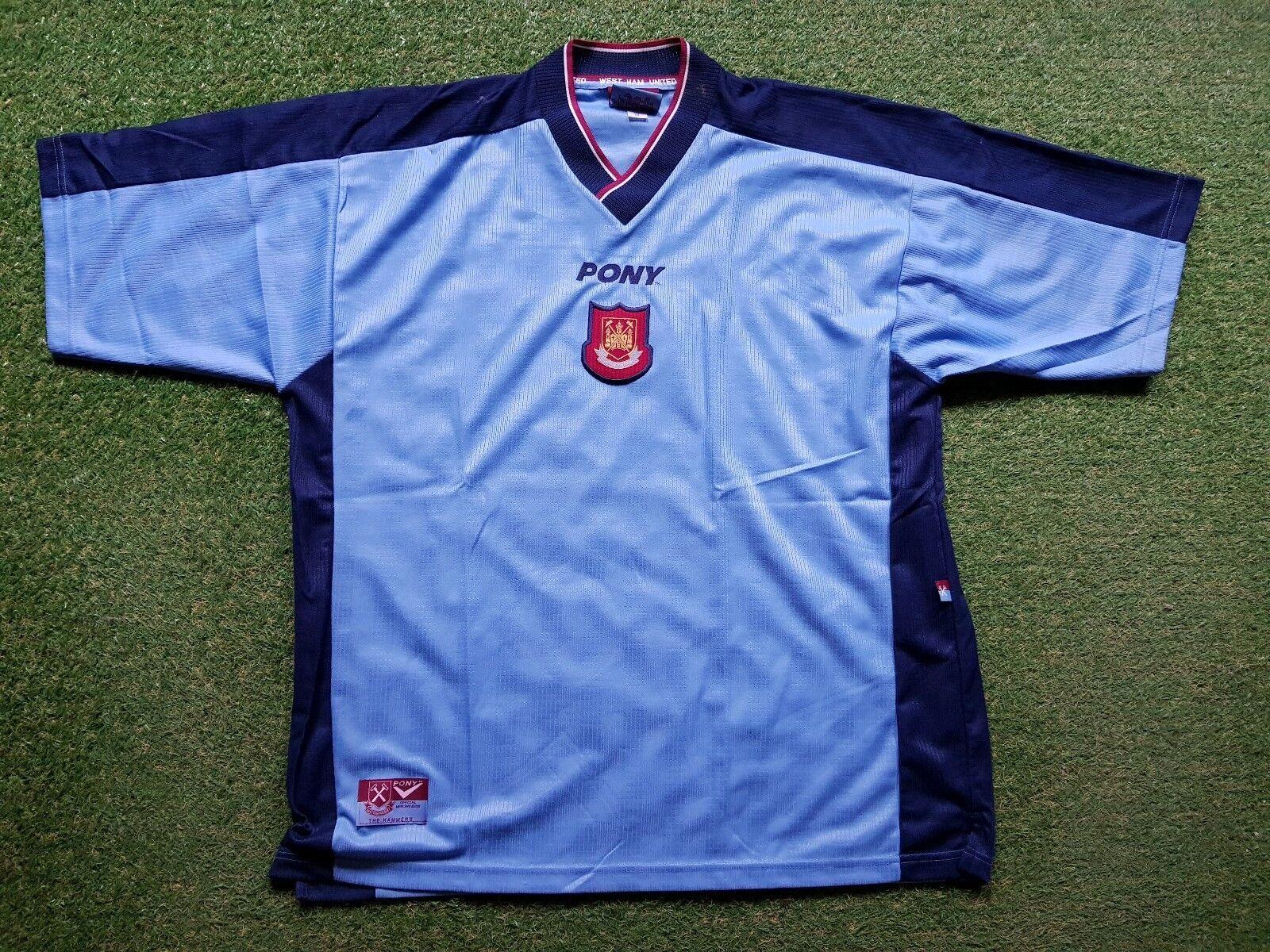 West Ham United Fútbol Camiseta XXL Pony Jersey Camiseta Maillot Camiseta 1996